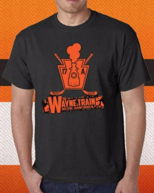 "Wayne Simmonds ""Wayne Train"" Philadelphia Flyers Hockey T-Shirt (Dynasty Sports Exclusive) - Dynasty Sports & Framing"