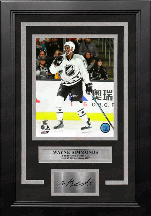Wayne Simmonds Philadelphia Flyers All-Star Game Action 11x14 Framed Photo with Engraved Autograph - Dynasty Sports & Framing