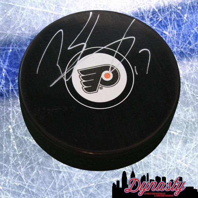 Philadelphia Flyers Wayne Simmonds Autographed NHL Hockey Logo Puck - Dynasty Sports & Framing