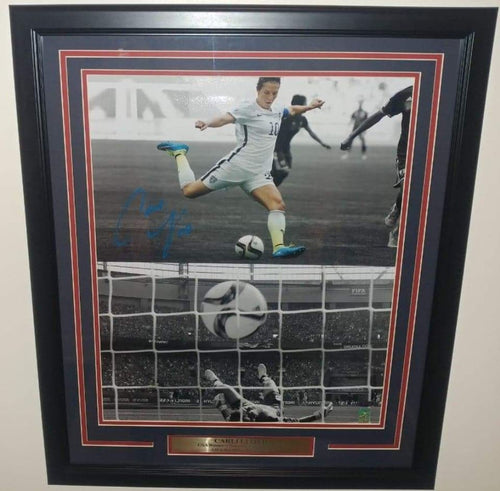 "Carli Lloyd Soccer Autographed 16"" x 20"" Framed and Matted Photo - Dynasty Sports & Framing"