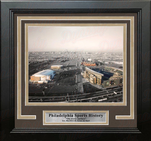 Philadelphia Sports Complex (Lincoln Financial, Citizen's Bank, Wells Fargo, Spectrum) Framed Photo - Dynasty Sports & Framing