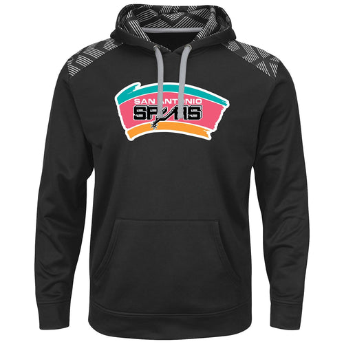 San Antonio Spurs NBA Basketball Hardwood Classic Therma Base Armour Black Pullover Hoodie - Dynasty Sports & Framing