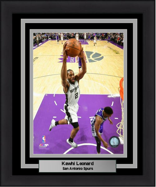 "Kawhi Leonard Slam Dunk San Antonio Spurs 8"" x 10"" Framed Basketball Photo - Dynasty Sports & Framing"