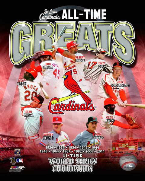 "St. Louis Cardinals All-Time Greats MLB Baseball 8"" x 10"" Photo"