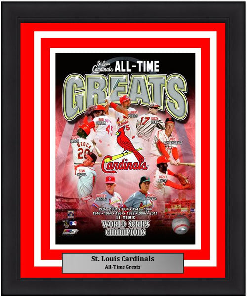 "St. Louis Cardinals All-Time Greats MLB Baseball 8"" x 10"" Framed and Matted Photo"