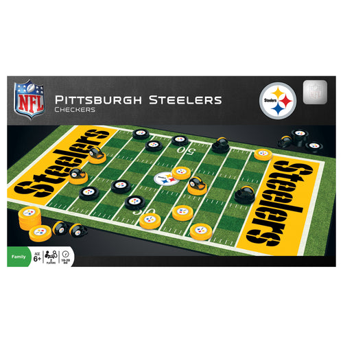 Pittsburgh Steelers Checkers Board Game - Dynasty Sports & Framing