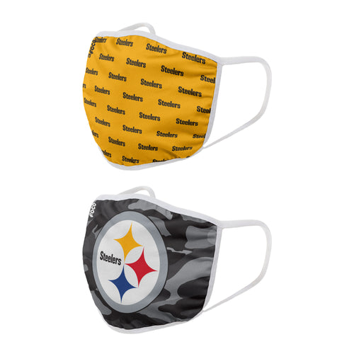 Pittsburgh Steelers 2-Pack Clutch Face Cover Masks - Dynasty Sports & Framing
