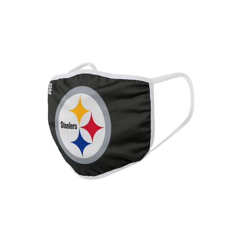 Pittsburgh Steelers Solid Big Logo Face Cover Mask - Dynasty Sports & Framing