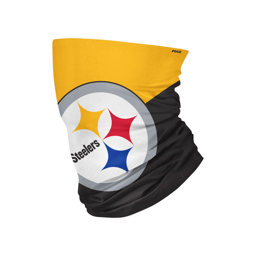 Pittsburgh Steelers Colorblock Big Logo Gaiter Scarf - Dynasty Sports & Framing