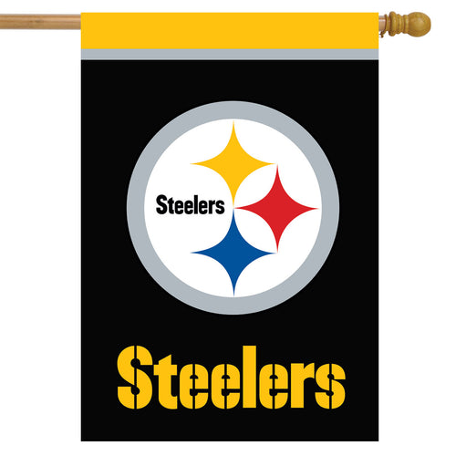 Pittsburgh Steelers Football House Flag - Dynasty Sports & Framing