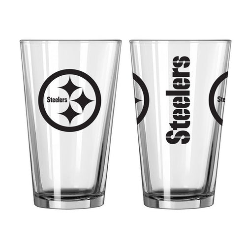 Pittsburgh Steelers NFL 2-Piece Pint Glass Gift Set - Dynasty Sports & Framing