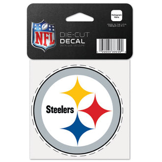 "Pittsburgh Steelers NFL Football 4"" x 4"" Decal"