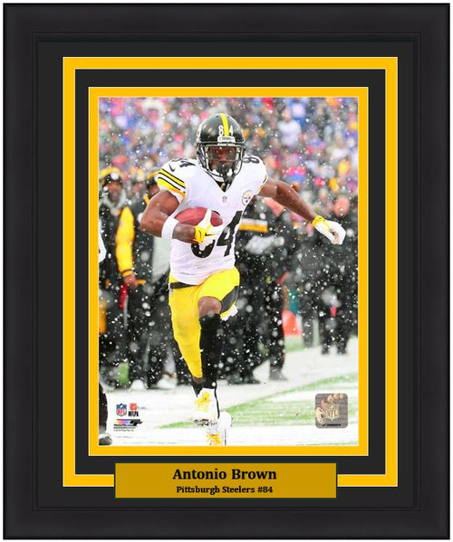 "Pittsburgh Steelers Antonio Brown NFL Football 8"" x 10"" Framed and Matted Photo"