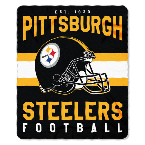 "Pittsburgh Steelers NFL Football 50"" x 60"" Singular Fleece Blanket"