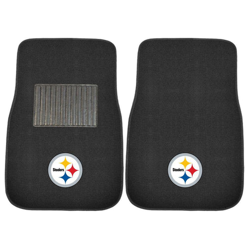 Pittsburgh Steelers NFL 2 Piece Embroidered Car Mat Set - Dynasty Sports & Framing