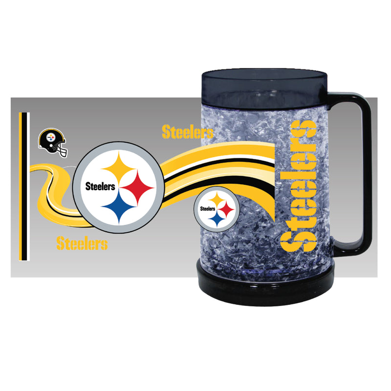Pittsburgh Steelers NFL Football Freezer Mug - Dynasty Sports & Framing
