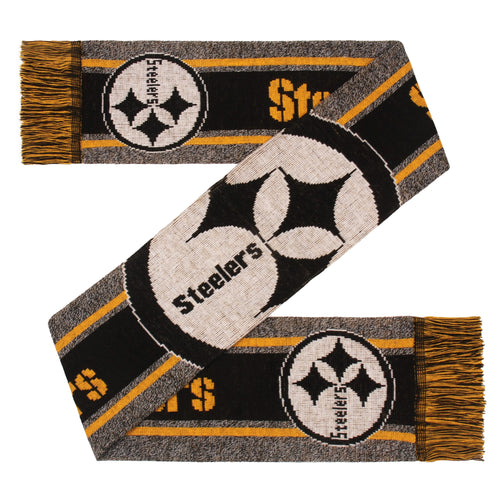 Pittsburgh Steelers Charcoal Logo Scarf - Dynasty Sports & Framing
