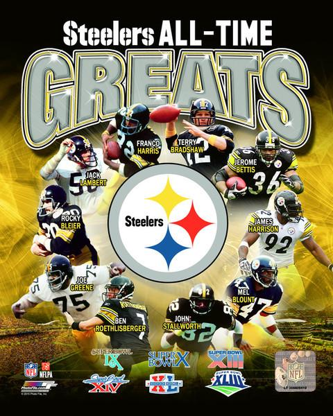 "Pittsburgh Steelers All-Time Greats NFL Football 8"" x 10"" Photo"