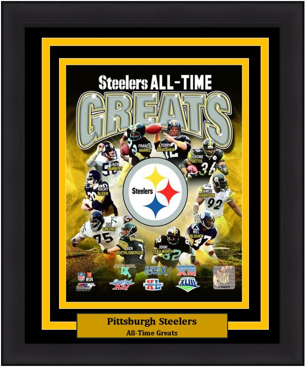 detailed look f5ae0 6c0cd Pittsburgh Steelers All-Time Greats NFL Football 8