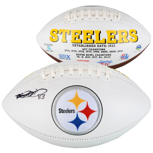 Heath Miller Pittsburgh Steelers Autographed NFL White Panel Football