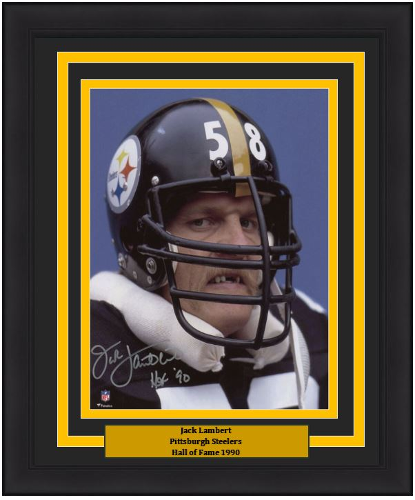 free shipping 3c594 8b5a2 Jack Lambert Snarl Pittsburgh Steelers Autographed 8