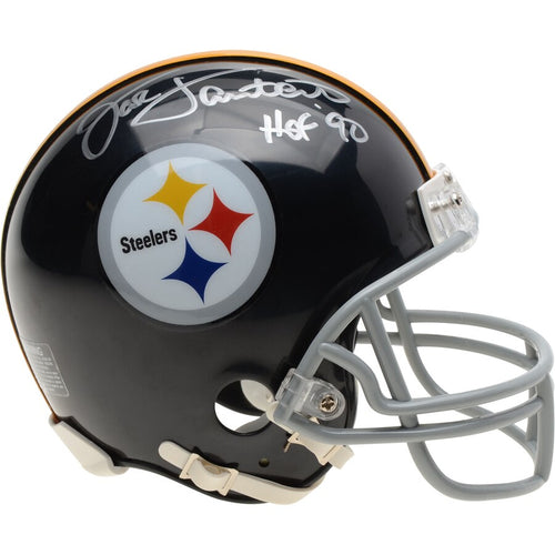 Jack Lambert Pittsburgh Steelers Autographed NFL Football Throwback Mini-Helmet with Hall of Fame Inscription