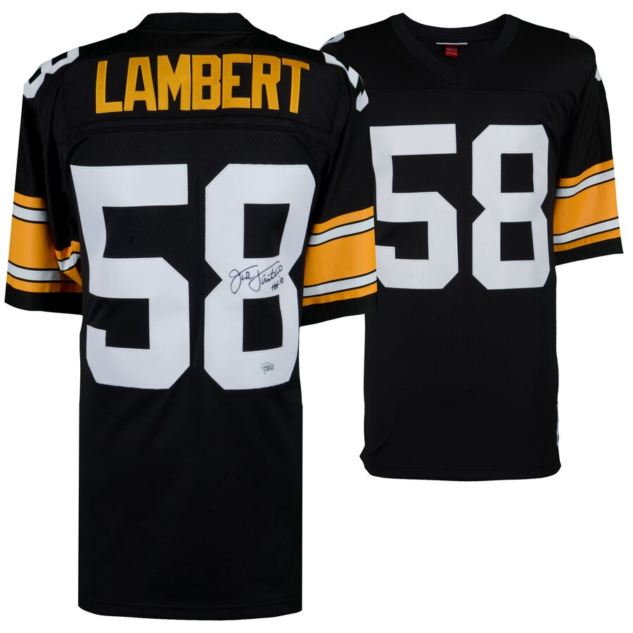 low priced 97950 205ab Jack Lambert Pittsburgh Steelers Autographed NFL Football Mitchell & Ness  Replica Jersey with