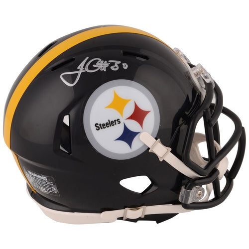 James Conner Pittsburgh Steelers Autographed NFL Football Speed Mini-Helmet - Dynasty Sports & Framing