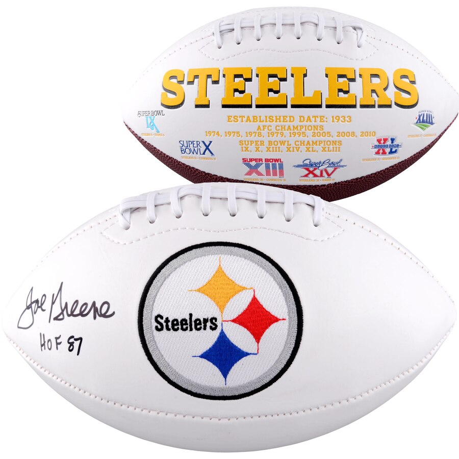 official photos 57a0f c6537 Joe Greene Pittsburgh Steelers Autographed NFL White Panel Football with  Hall of Fame Inscription