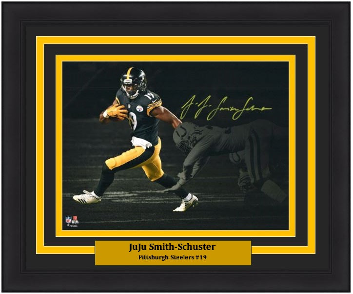 finest selection 61a04 41294 JuJu Smith-Schuster Pittsburgh Steelers Blackout Autographed 11