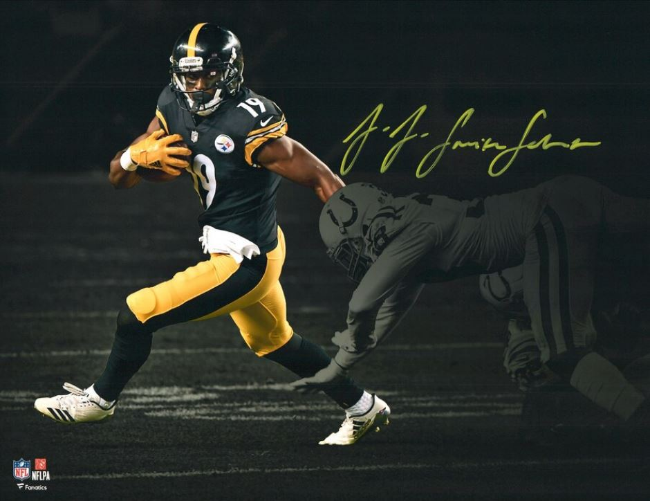 finest selection f1976 bcd07 JuJu Smith-Schuster Pittsburgh Steelers Blackout Autographed 11
