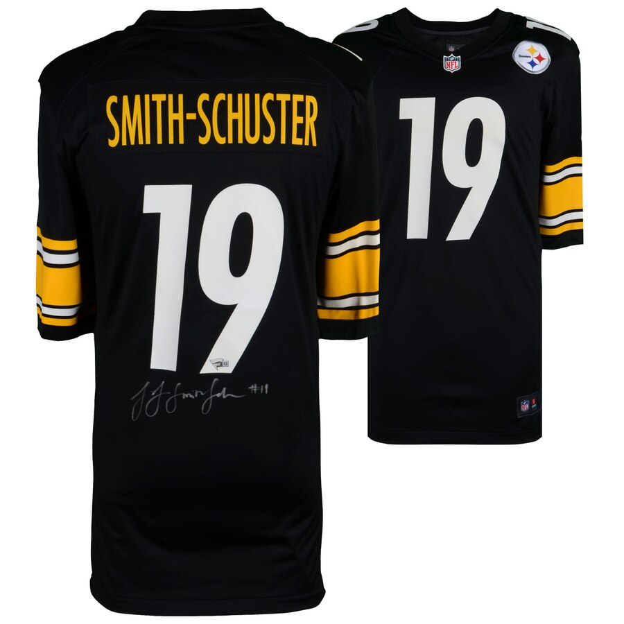 huge selection of e784c d8e93 JuJu Smith-Schuster Pittsburgh Steelers Autographed NFL Football Black Nike  Jersey