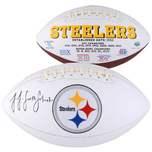 JuJu Smith-Schuster Pittsburgh Steelers Autographed NFL White Panel Football