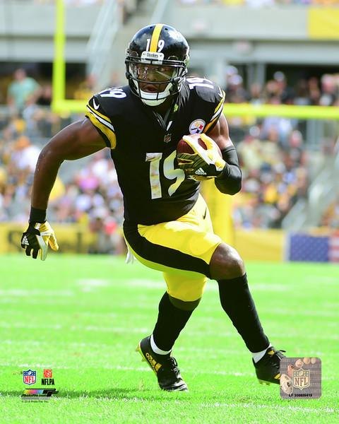 Juju Smith-Schuster LeVeon Bel Pittsburgh Steelers 2017 Action Photo Size: 8 x 10