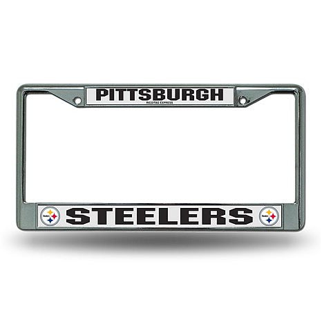 Pittsburgh Steelers NFL Football Chrome License Plate Frame - Dynasty Sports & Framing