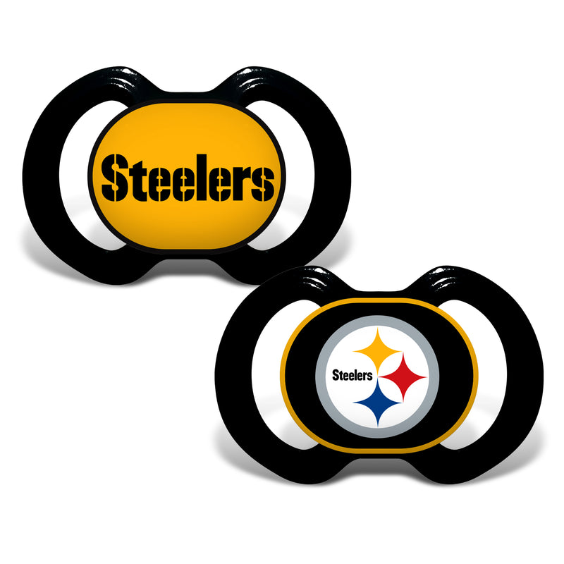 Pittsburgh Steelers NFL Football 2 Pack Baby Pacifiers - Dynasty Sports & Framing