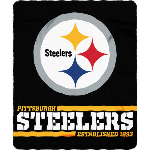 "Pittsburgh Steelers NFL Football 50"" x 60"" Split Wide Fleece Blanket - Dynasty Sports & Framing"