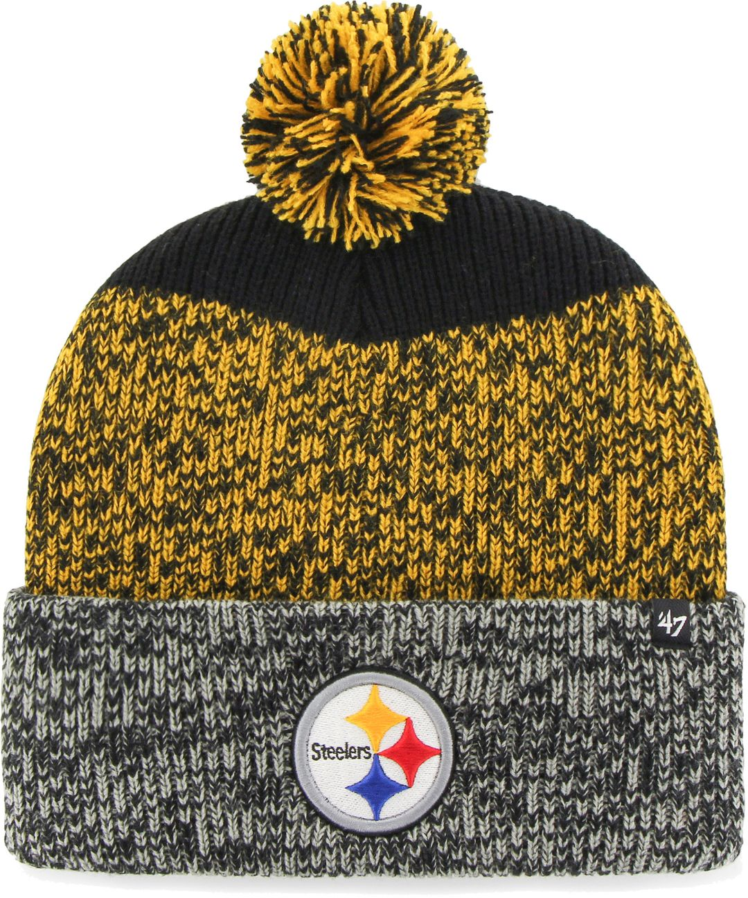 Pittsburgh Steelers 47 Brand Men S Static Cuffed Knit Hat