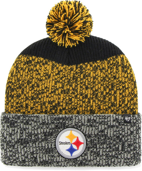 Pittsburgh Steelers '47 Brand Men's Static Cuffed Knit Hat - Dynasty Sports & Framing