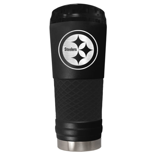 Pittsburgh Steelers 18 oz. Jr. Stealth Stainless Steel Travel Tumbler - Dynasty Sports & Framing
