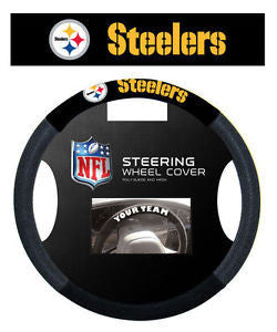Pittsburgh Steelers NFL Football Steering Wheel Cover - Dynasty Sports & Framing