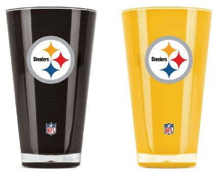 Pittsburgh Steelers NFL Football 2-Pack Tumbler Cup Set - Dynasty Sports & Framing