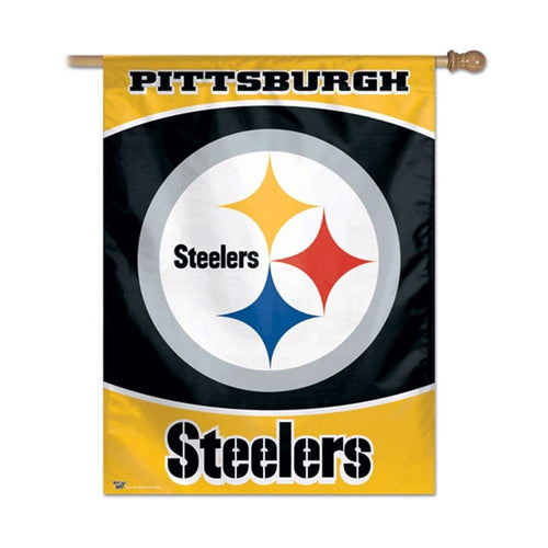 Pittsburgh Steelers NFL Football Vertical Flag - Dynasty Sports & Framing