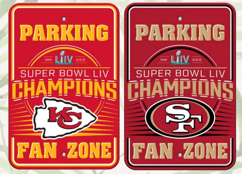 Kansas City Chiefs Super Bowl LIV Champions Parking Sign