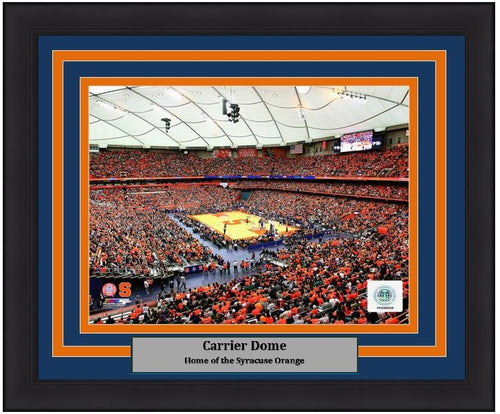 "Syracuse Orange Carrier Dome NCAA College Basketball Stadium 8"" x 10"" Framed and Matted Photo - Dynasty Sports & Framing"
