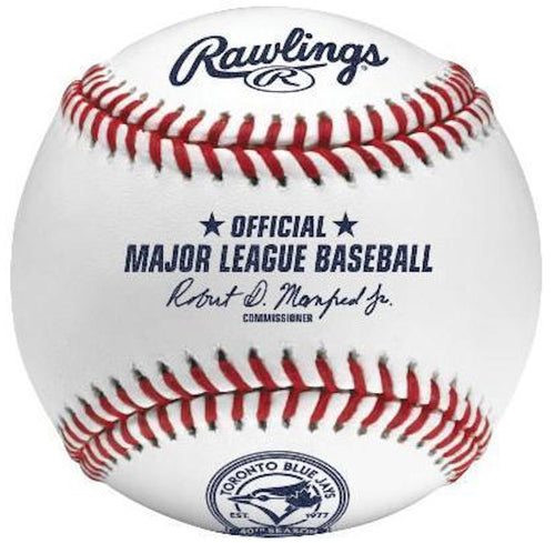 Rawlings Major League Baseball Official Toronto Blue Jays 40th Anniversary Ball - Dynasty Sports & Framing