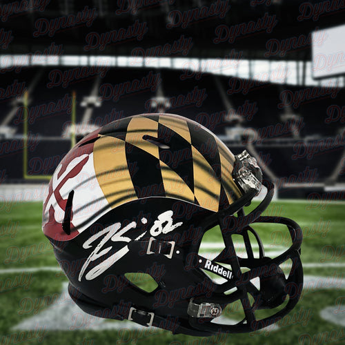 Torrey Smith Maryland Terrapins Autographed Pride Mini-Helmet - Dynasty Sports & Framing