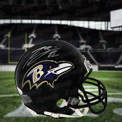 Torrey Smith Baltimore Ravens Autographed Mini-Helmet - Dynasty Sports & Framing