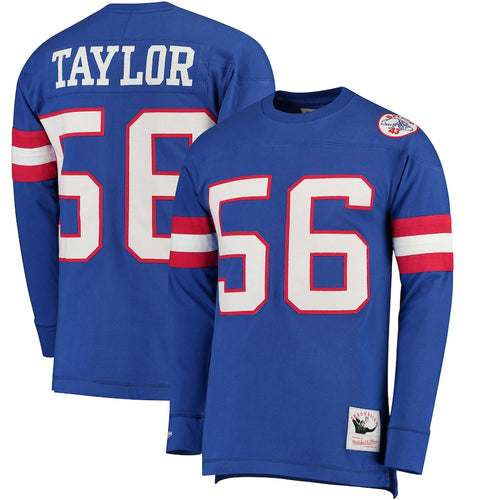 Lawrence Taylor New York Giants Mitchell & Ness Long Sleeve Jersey Shirt - Dynasty Sports & Framing