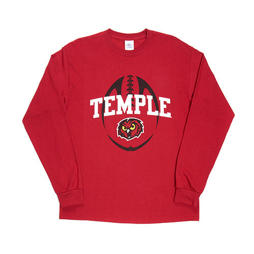Temple University Football Long-Sleeve T-Shirt - Dynasty Sports & Framing